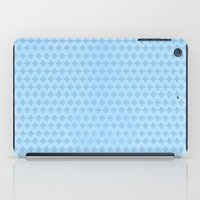 scandinavian iPad Cases featuring Scandinavian blue by There is no spoon