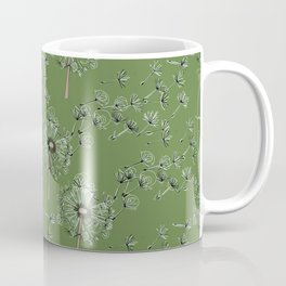 Dandelion clock, tick tock. Coffee Mug