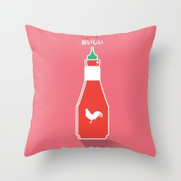 In My Fridge - Sriracha Sauce Throw Pillow