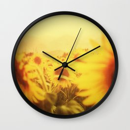 Delving in Yellow Wall Clock
