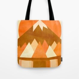 sunset reflections across the lake Tote Bag