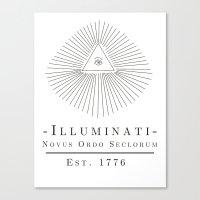 illuminati Canvas Prints featuring Illuminati by Fabian Bross