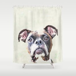 Brindle Boxer Dog Shower Curtain