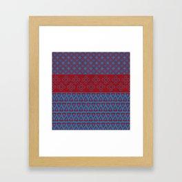 Japanese Style Bohemian Pattern Framed Art Print