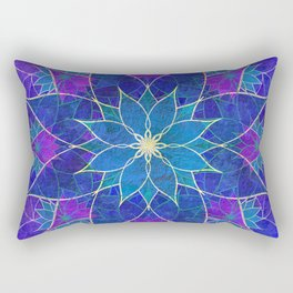 Lotus 2 - blue and purple Rectangular Pillow