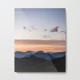 Sunrise on the Rockies Metal Print