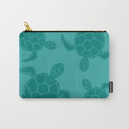 Turquoise Blue Sea Turtle Carry-All Pouch