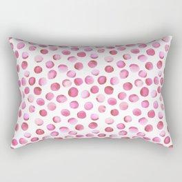 Watercolor Dots // Persian Pink Rectangular Pillow