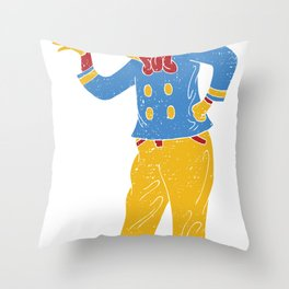 RonaldMcDonaldDuck Throw Pillow