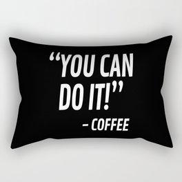 You Can Do It - Coffee (Black & White) Rectangular Pillow