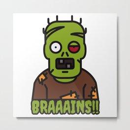Brain Eater Metal Print