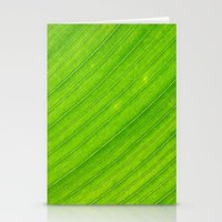banana leaf Stationery Cards featuring banana leaf by blackpool