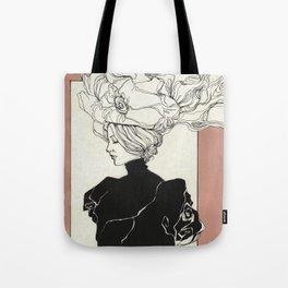 Vintage lady Tote Bag