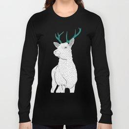 White deer alone. Long Sleeve T-shirt