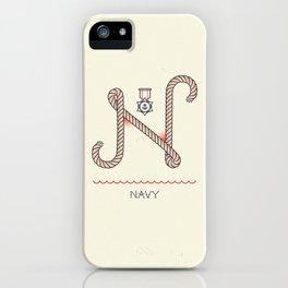 Ahoy! Letter N iPhone Case