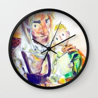 le petit prince Wall Clocks featuring Le Petit Prince by Halina  Jasińska photography