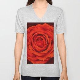 Vintage Rose,red Unisex V-Neck