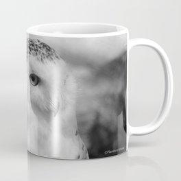 Snowy Owl - B & W Coffee Mug