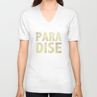 paradise V-neck T-shirts featuring Paradise by M Studio