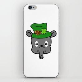 Leprechaun Tapir- St. Patricks Day iPhone Skin