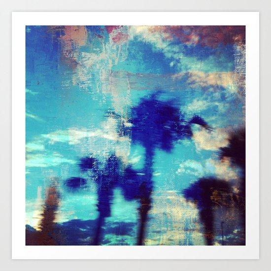 Underwater Palms Art Print