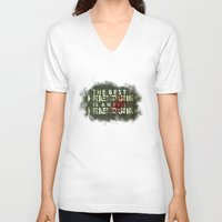 friendship V-neck T-shirts featuring Friendship by OneBlueWolf