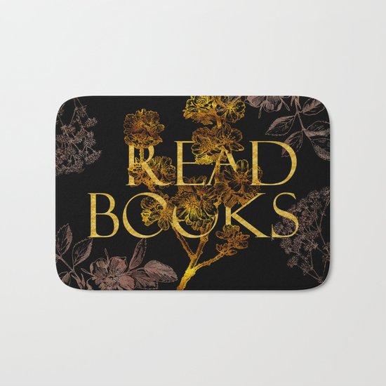 Read Books gold typography Bath Mat
