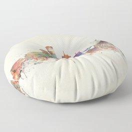 milwaukee wisconsin skyline Floor Pillow