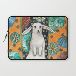 Rabbit and Shell Wallpaper Laptop Sleeve