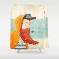 beach Shower Curtains featuring Beach by Seaside Spirit