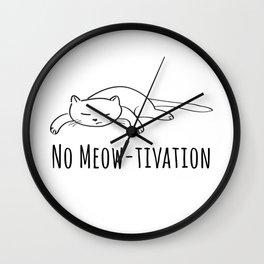 No Meow-tivation Wall Clock