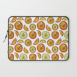 Illustrated Oranges and Limes Laptop Sleeve