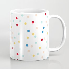Sprinkles Pattern | Rainbow Texture | Polka Dot Home Decor | Christmas Coffee Mug