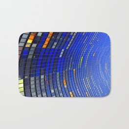 Big Blue Blocks Bath Mat