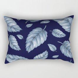 BLUE LEAVES Rectangular Pillow