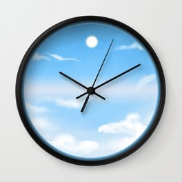 World Within Me - Blue Wall Clock