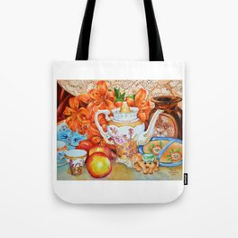 Lilies and Lace Tote Bag
