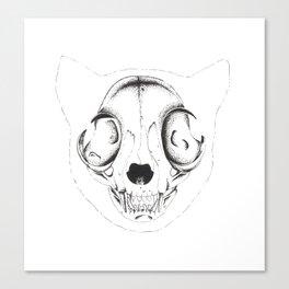 Skull Cat Canvas Print