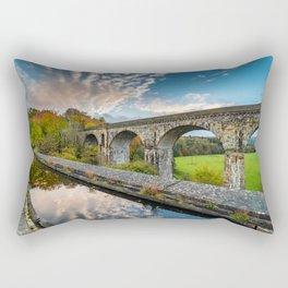 Chirk Aqueduct And Viaduct Rectangular Pillow