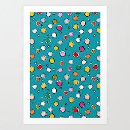 wilderdot blue Art Print