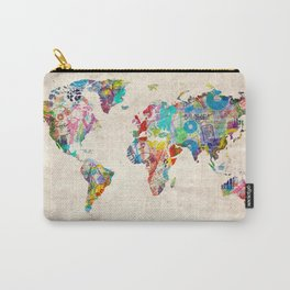 world map music art Carry-All Pouch