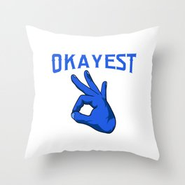 Relative Sister Brother Sibling Collection World's Okayest Brother-In-Law Family T-shirt Design Throw Pillow