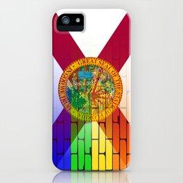 Gay Rainbow Wall Florida Flag iPhone Case