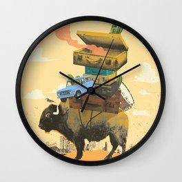 BUFFALO TRAVELS Wall Clock