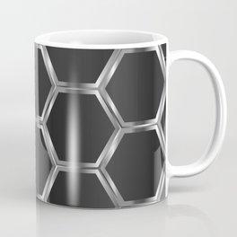 Gray and silver octagon pattern Coffee Mug