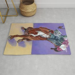 Hazel the Princess Boxer Girl Rug