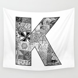 Cutout Letter K Wall Tapestry