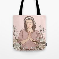coconutwishes Tote Bags featuring Peaceful by Coconut Wishes