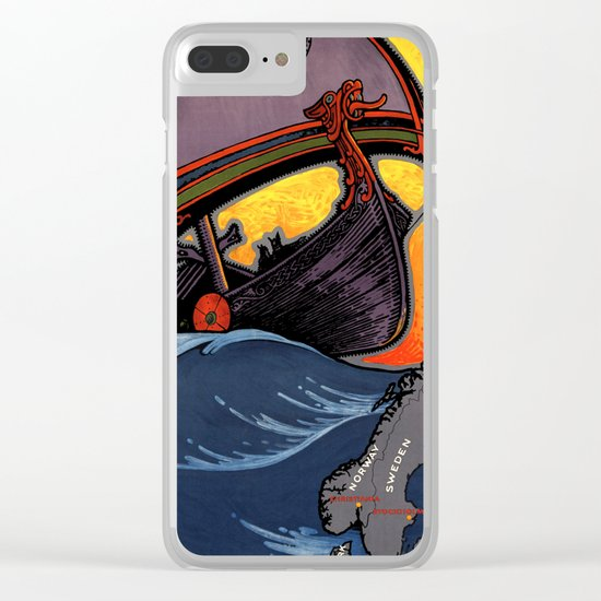 Scandinavia Land of the Vikings - Vintage Travel Clear iPhone Case