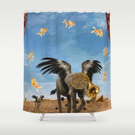 Lackadaisically Shortened Pose Shower Curtain